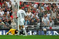 Photo: Tom Dulat.<br /> England v Estonia. UEFA European Championships Qualifying. 13/10/2007.<br /> Tavvi Rahn(not in the picture) of Estonia scored own goal. Goalkeeper of Estonia Mart Poom. 3-0 for England