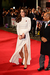 The Duchess of Cambridge attending the world premiere of A Street Cat Named Bob held at Curzon Mayfair, London.