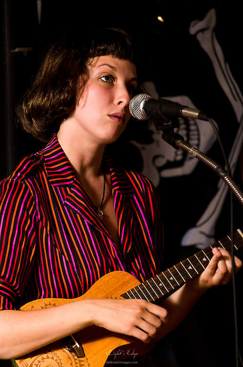 Sara Donnachie of Sara and The Wilderness performing during the MidSummer Frealout at The Bus Stop Music Cafe.