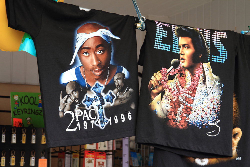 2 Pac meets Elvis. Each year the South Wales seaside town of Porthcawl is home to the Elvis Festival