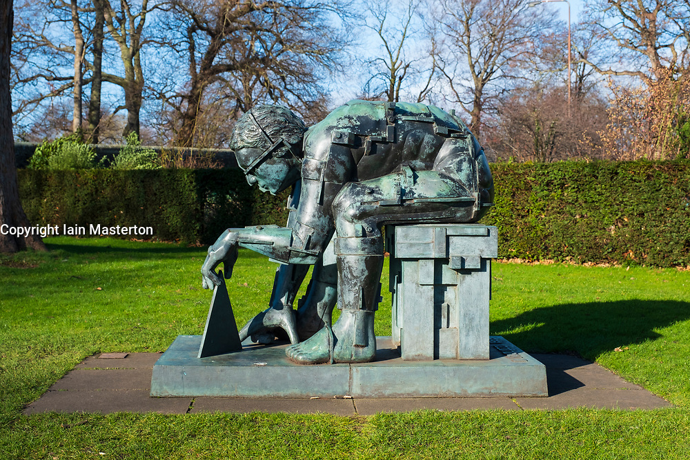Master of the Universe sculpture by Eduardo Paolozzi at Scottish National Gallery of Modern Art - Two, in Edinburgh, Scotland, UK