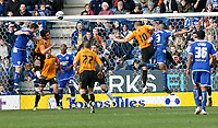 Photo: Steve Bond/Richard Lane Photography. <br />Leicester City v Hull City. Coca Cola Championship. 21/03/2008. Goalmouth action as Steve Howard (L) goes close