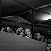 People watch the main stage performers at the annual Monterey Jazz Festival in Monterey, Calif. on Sept. 21, 2018.
