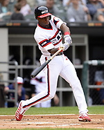 CHICAGO - SEPTEMBER 29:  Tim Anderson #7 of the Chicago White Sox bats against the Detroit Tigers on September 29, 2019 at Guaranteed Rate Field in Chicago, Illinois.  (Photo by Ron Vesely)  Subject:   Tim Anderson