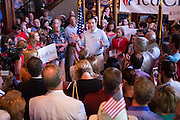 U.S. Senator and GOP presidential candidate Ted Cruz  speaks during a campaign stop at the Liberty Tap Room restaurant August 7, 2015 in Mt Pleasant, South Carolina. The event was the kick off for a seven-day bus tour called the Cruz Country Bus Tour of southern states.