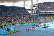 Mens 200m heats, with Usain Bolt competing for Jamaica, Engenho stadium, where the Athletics are held at Rio 2016, Rio de Janeiro, Brazil.
