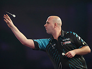 Rob Cross during the PDC World Darts Championship Final at Alexandra Palace, London, United Kingdom on 1 January 2018. Photo by Chris Sargeant.