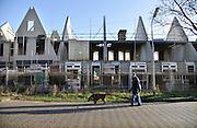 Nederland, Nijmegen, 10-1-2012In de wijk Willemskwartier worden oude sociale huurwoningen gesloopt en vervangen door sociale huurwoningen en koopwoningen. Het is een grootschalig project voor wijkvernieuwing van wooncorporatie Portaal en de gemeente.Foto: Flip Franssen/Hollandse Hoogte