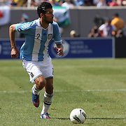 Ezequiel Garay, Argentina, in action during the Brazil V Argentina International Football Friendly match at MetLife Stadium, East Rutherford, New Jersey, USA. 9th June 2012. Photo Tim Clayton