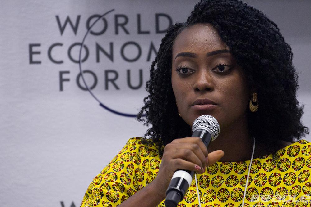 Grace Ihejiamaizu, Founder and Executive Director<br /> iKapture Center for Development at the World Economic Forum on Africa 2017 in Durban, South Africa. Copyright by World Economic Forum / Greg Beadle