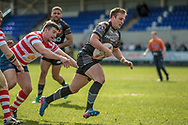 First try to the Bradford Bulls, scored by Lee Smith (Bradford Bulls) during the Kingstone Press Championship match between Oldham Roughyeds and Bradford Bulls at Bower Fold, Oldham, United Kingdom on 2 April 2017. Photo by Mark P Doherty.