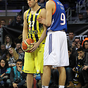 Anadolu Efes's Furkan Korkmaz (R) during their Turkish Basketball Spor Toto Super League ALL-STAR 2016 at the Ulker Sports Arena in Istanbul, Turkey, Sunday 24, January 2016. Photo by Safak KAYARLAR/TURKPIX