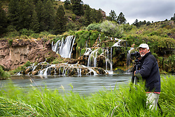 Photographer Jim Osterhout capturing the magic of Falls Creek Falls in Swan Valley Idaho.