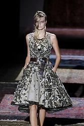 September 17, 2016 - Madrid, Madrid, Spain - A model  walks Turing Ana Locking Fashion Show at Madrid Fashion Week Spring/Summer 2017/18 at Ifema, on September 17, 2016, in Madrid, Spain  (Credit Image: © Oscar Gonzalez/NurPhoto via ZUMA Press)