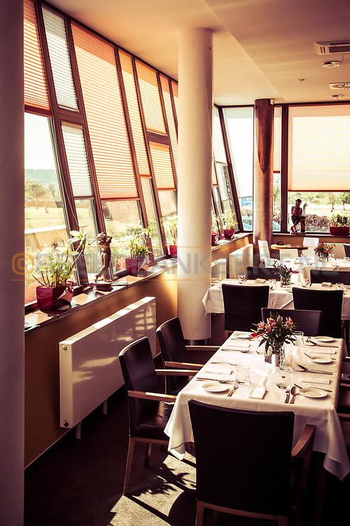 17-09-2015: Beroun Golf Resort in Beroun, Tsjechië.<br /> Foto: Restaurant Tifannys in het fraaie clubhuis