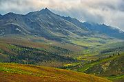 Ogilvie Mountains, part of the Yukon Ranges. Dempster Highway.<br />