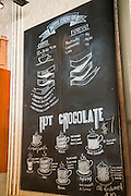 Hot Chocolate cafe interior wall display in Wicker Park August 2, 2015 in Chicago, Illinois, USA.