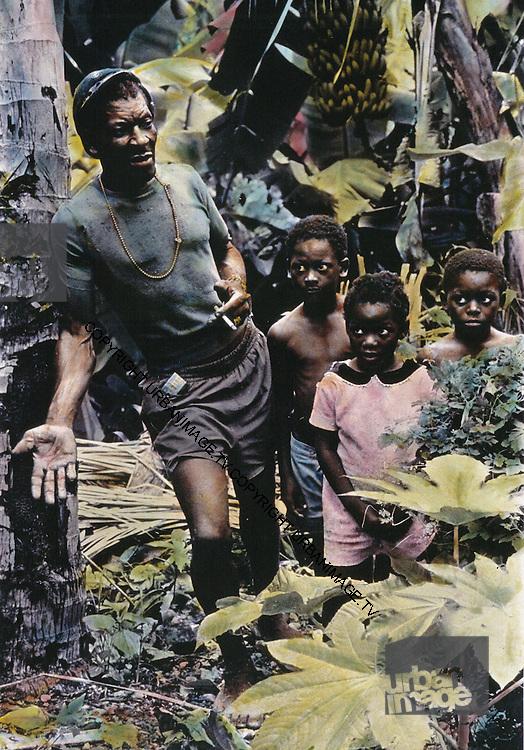 Jamaica Country Family - hand coloured