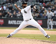 CHICAGO - APRIL 05:  Alex Colome #48 of the Chicago White Sox pitches against the Seattle Mariners on April 5, 2019 at Guaranteed Rate Field in Chicago, Illinois.  (Photo by Ron Vesely)  Subject:  Alex Colome