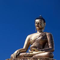 Asia, Bhutan, Thimpu. Buddha Dordenma overlooking Thimpu.