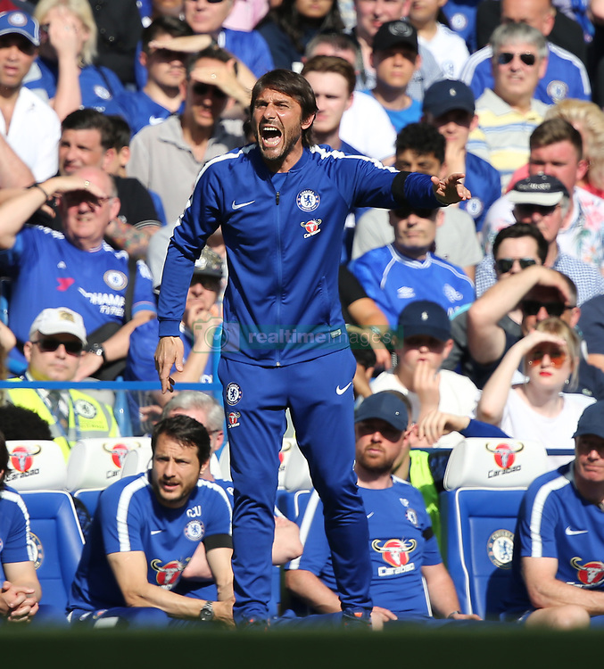 May 6, 2018 - London, Greater London, United Kingdom - Antonio Conte manager of Chelsea during English Premier League match between Chelsea and Liverpool at Stamford Bridge, London, England on 6 May 2018. (Credit Image: © Kieran Galvin/NurPhoto via ZUMA Press)