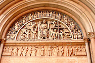 Detail of Baptistry Door  - Piazza Del Duomo - Parma Italy. .<br /> <br /> Visit our ITALY HISTORIC PLACES PHOTO COLLECTION for more   photos of Italy to download or buy as prints https://funkystock.photoshelter.com/gallery-collection/2b-Pictures-Images-of-Italy-Photos-of-Italian-Historic-Landmark-Sites/C0000qxA2zGFjd_k<br /> .<br /> <br /> Visit our MEDIEVAL PHOTO COLLECTIONS for more   photos  to download or buy as prints https://funkystock.photoshelter.com/gallery-collection/Medieval-Middle-Ages-Historic-Places-Arcaeological-Sites-Pictures-Images-of/C0000B5ZA54_WD0s