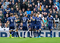 Football - 2019 / 2020 Premier League - Tottenham Hotspur vs. Watford<br /> <br /> Watford players celebrate after Abdoulaye Doucoure (Watford FC) puts them ahead at The Tottenham Hotspur Stadium.<br /> <br /> COLORSPORT/DANIEL BEARHAM