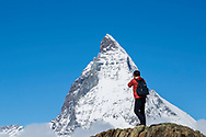 Photographer shooting the Matterhorn it Zermatt Switzerland