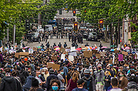 Black Lives Matter Protests. Seattle, Washington, USA. June 3, 2020.
