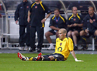 Photo: Chris Ratcliffe.<br /> Arsenal v Barcelona. UEFA Champions League Final. 17/05/2006.<br /> Freddie Ljungberg is distraught.