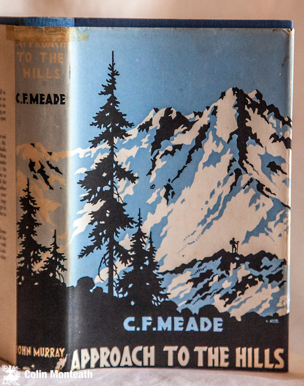 APPROACH TO THE HILLS, CF Meade,  John Murray, London, 1st edn., 1940, 263 page hardback, original blue cloth, good jacket, sl sunning on spine,B&W plates, previous owner's signature on fep, book review by Winthrop Young pasted in,.....biography of important British climber who pioneered routes in the European Alps but made important journeys in the Garhwal Himalaya - $NZ55.