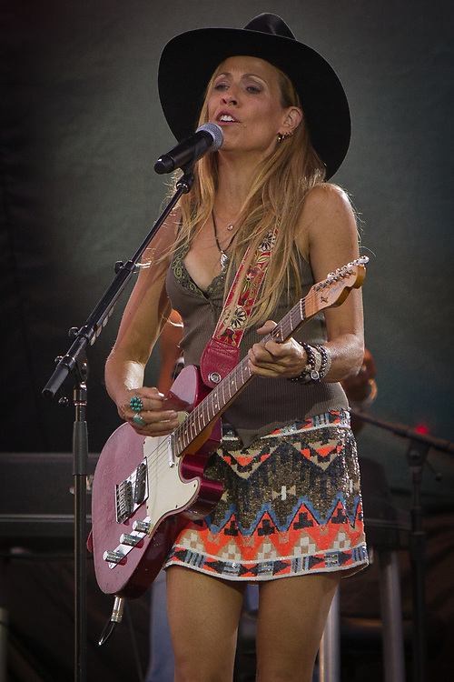 Singer-songwriter Sheryl Crow performs at the Cheyenne Frontier Days, the world's largest rodeo and western celebration.