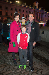 GAWAIN RAINEY and JASMINE GUINNESS with their children OTIS & RUBY at the launch of Skate at Somerset House in association with Fortnum & Mason held at Somerset House, The Strand, London on 17th November 2015.