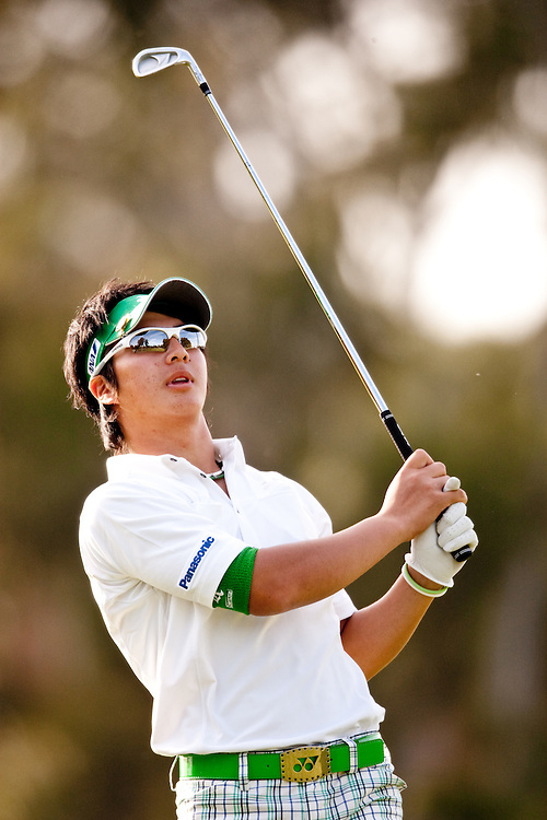PACIFIC PALISADES, CA - FEBRUARY 20:  Ryo Ishikawa watches his shot during the second round of the 2009 Northern Trust Open at Riviera Country Club in Pacific Palisades, California on Friday, February 20, 2009. (Photograph by 2009 Darren Carroll)  *** Local Caption *** Ryo Ishikawa