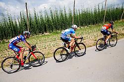 Radoslav Rogina (CRO) of KK Adria Mobil, Primoz Obal (SLO) of Slovenija National Team and Giovanni Visconti (ITA) of Bahrain-Merida during Stage 3 of 24th Tour of Slovenia 2017 / Tour de Slovenie from Celje to Rogla (167,7 km) cycling race on June 16, 2017 in Slovenia. Photo by Vid Ponikvar / Sportida