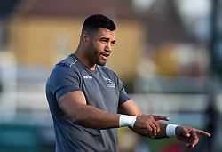 Luther Burrell of Newcastle Falcons looks on during the pre-match warm-up - Mandatory by-line: Patrick Khachfe/JMP - 07/11/2020 - RUGBY UNION - Trailfinders Sports Ground - London, England - Ealing Trailfinders v Newcastle Falcons - Pre-season friendly