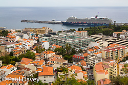 A view across the rooftops of Funchal from t John the Baptist of Pico Fort, Funchal, Madeira. MADEIRA, September 25 2018. © Paul Davey