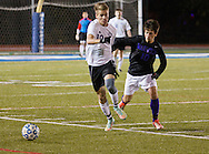 Middletown, New York - Monroe-Woodbury plays Warwick in the  Section 9 Class AA championship boys' soccer game on Nov. 3, 2014.