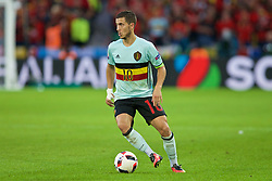 LILLE, FRANCE - Friday, July 1, 2016: Belgium's Eden Hazard in action against Wales during the UEFA Euro 2016 Championship Quarter-Final match at the Stade Pierre Mauroy. (Pic by Paul Greenwood/Propaganda)