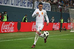 November 14, 2017 - Saint Petersburg, Russia - Of The Russian Federation. Saint-Petersburg. Arena Saint Petersburg, Zenit-arena. Friendly Match. The football world Cup. Team Russia Vs Team Spain. 3:3. Player..Jose Callejon. (Credit Image: © Russian Look via ZUMA Wire)