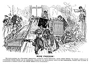 """More Freedom! We have before us a 'Teachers' Association pamphlet which threatens, among other things, """"To place a child in an atmosphere where there are no restraints, where he can move freely about in the schoolroom, where the teacher is essentially a passive agent and where there is no punishment."""""""