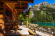 Cabin at Lake O'hara, Yoho National Park, British Columbia, Canada