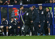 Manchester City's Edin dzeko goes off shortly after coming on as a substitute<br /> <br /> - Barclays Premier League - Queens Park Rangers vs Manchester City- Loftus Road - London - England - 8th November 2014  - Picture David Klein/Sportimage