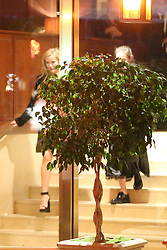 Reese Witherspoon takes a spill as she leaves the Sunset Tower Hotel after attending Jennifer Aniston's 50th birthday party in West Hollywood. Reese appears to have had a real good time at Jennifer's 50th birthday bash as she is seen tripping down the stairs on her way out. 10 Feb 2019 Pictured: Reese Witherspoon. Photo credit: MEGA TheMegaAgency.com +1 888 505 6342