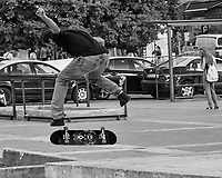 Scatboarding at the Square. Afternoon Walkabout in Lisbon. Image taken with a  Nikon 1 V3 camera and 70-300 mm VR lens.