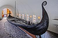 Norway, Oslo, Bygdøy. The Oseberg Ship at the Viking ship museum. HDR image.