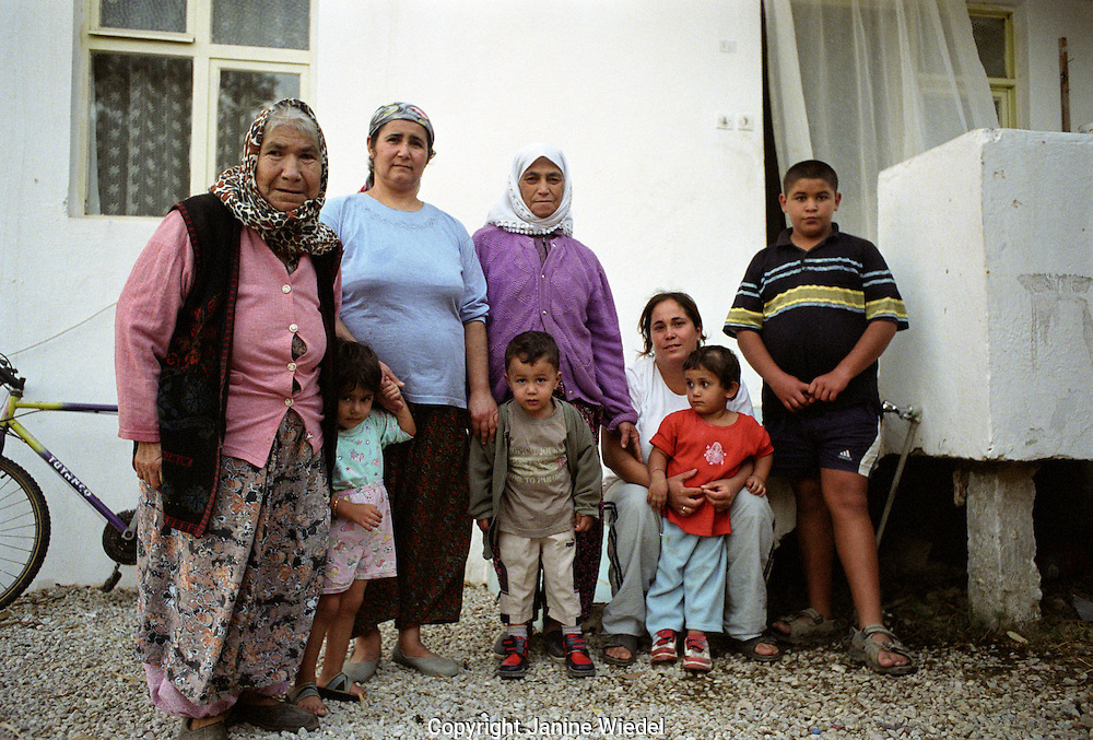 Different generations of a Turkish family.