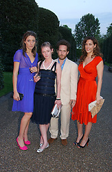 Left to right, DIXIE CHASSAY, CAMILLA RUTHERFORD,  Actor TOM HOLLANDER and JESSICA DE ROTHSCHILD at a party to celebrate the opening of Roger Vivier in London held at The Orangery, Kensington Palace, London on 10th May 2006.<br /><br />NON EXCLUSIVE - WORLD RIGHTS