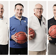ACC Coaching Legends, photographed for ESPN in Charlotte. ©Travis Bell Photography