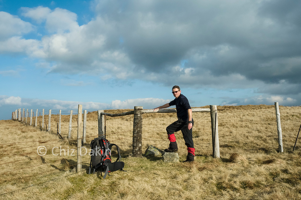 Getting to the true summits of some of the 6 outlying wainwright fells (such as here on Whatshaw Common) often requires finding the easier way over the fence or gap through the wall.